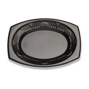 12X9 OVAL PLATTER - CF BLACK