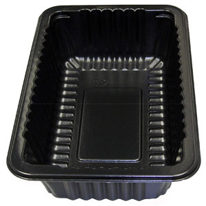 CT-#10 TRAY 3.00 BLACK NEW RIB-WOOD
