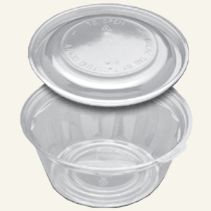 4532 32OZ JUSTFRESH BOWL/DOME 100 SETS