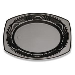 13X10 OVAL PLATTER-BLACK