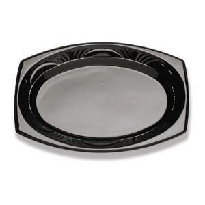 11X8 OVAL PLATTER-BLACK