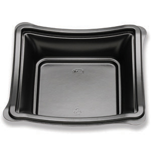 7IN NEW WAVE DEEP PLATE/BOWL BLACK