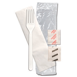 FORUM FORK WHITE, SALT, PEPPER, NAPKIN