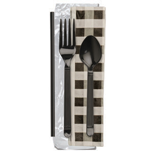 FORUM EBONY F,T, EBONY MS, GINGHAM NAPKIN