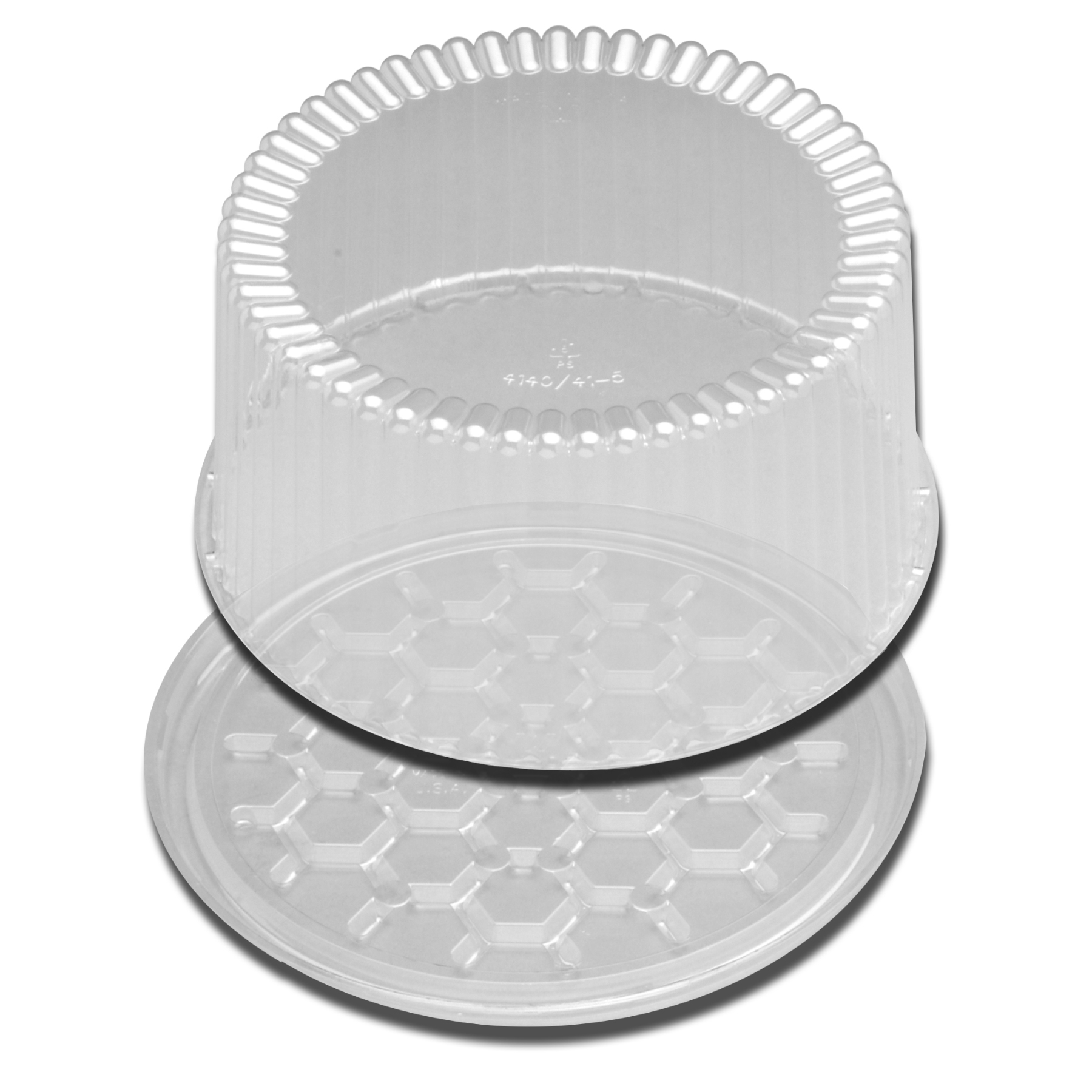 "DSPLYCAKE 9"" 2,3 LAYER CLEAR 80PK"