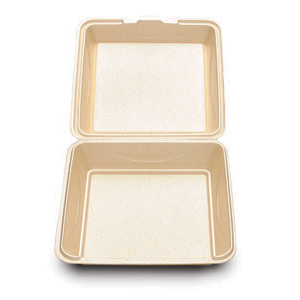 "enviroware 9"" HINGED WHEAT"