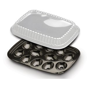 12 EGG BLK TRAY W/DM 328PK