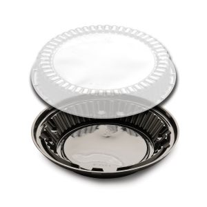 "DISPLAY PIE 9"" LO DOME W/BLK BASE 160PK"