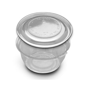 JUSTFRESH 16OZ PLA BOWL W/DM 250 SETS